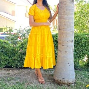 Yellow Long Dress perfect for summer